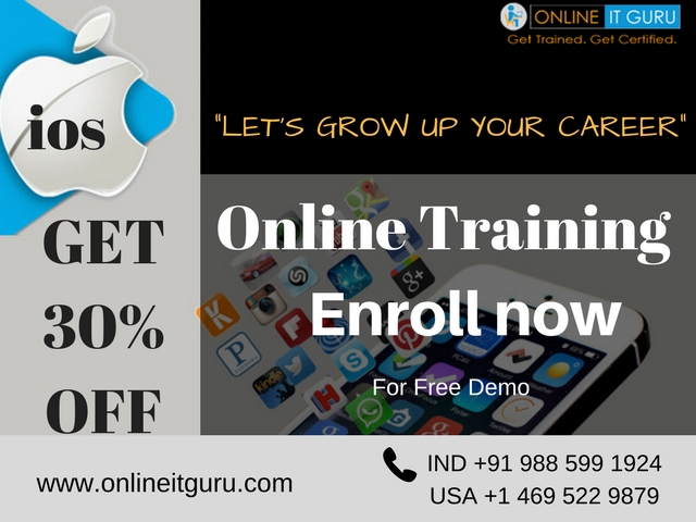 Get ready to ios online course | ios online training Bangalore