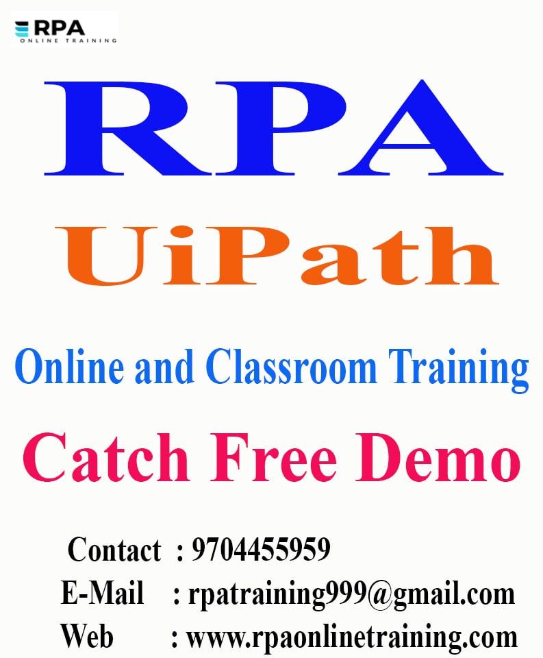 UiPath Online and Classroom Live Training in Hyderabad
