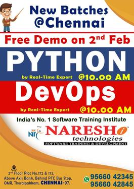Best SoftWare Training Institute In Chennai NARESH IT
