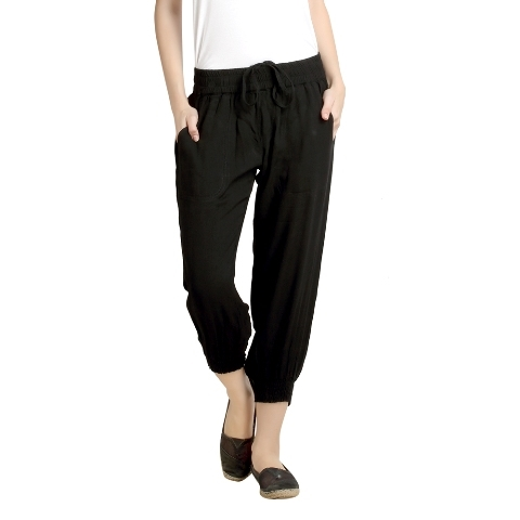 Buy Black Colour Capri Pant at Best Price in India| Shoppyzip