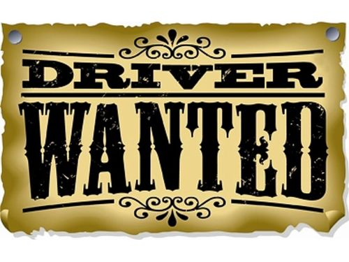 Wanted  Drivers with Badge.