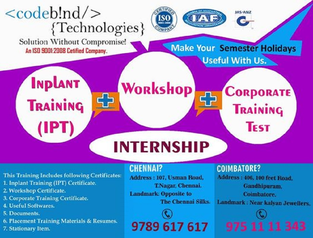 internship in chennai