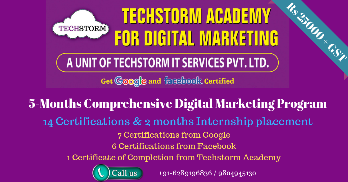 Learn Digital marketing course in Kolkata from Techstorm Academy for Digital Marketing