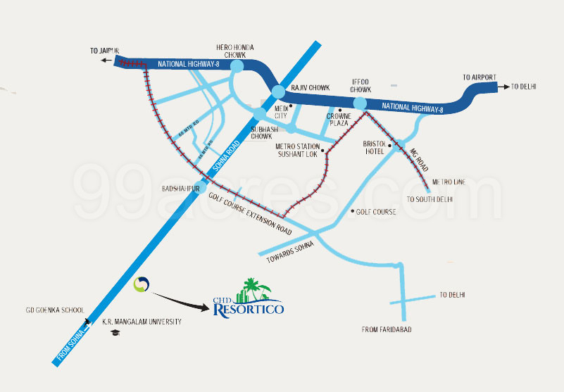 CHD Resortico Commercial Project Sector-34, Sohna, South Of Gurgaon Gurugram